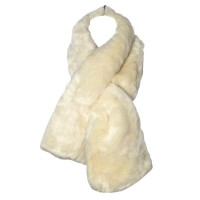 Luxe Soft Cream Faux Fur Scarf