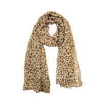 Classic Sheer Brown Cheetah Print Scarf