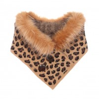 Gorgeous Luxe Leopard Collar Double Button Scarf