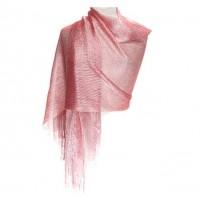 Ritzy Sparkling Rose Pink Fringe Scarf