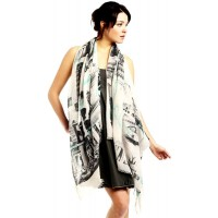 Traveling Italy Print Cotton Shawl Wrap Scarf