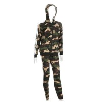 CAMOUFLAGE DOUBLE STRIPE TRACK JACKET PANT SET