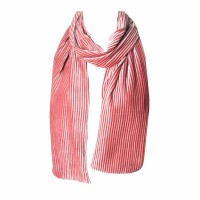 Romantic Blush Pink Pleated Velvet Scarf
