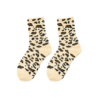 Cream Leopard Pattern Socks