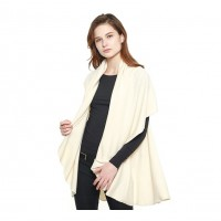 Versatile Cream Cape Shawl Vest